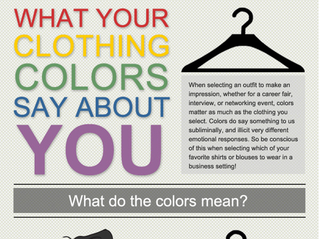 infographic what your clothing colors say about you infographics online infographics online. Black Bedroom Furniture Sets. Home Design Ideas