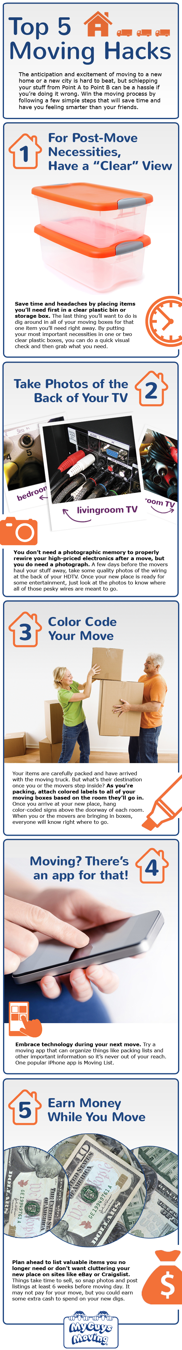The Top 5 Moving Hacks Infographics Online